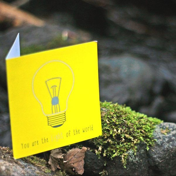 YOU ARE LIGHT Inspired by: Matthew 5:14   Designed to encourage someone who is struggling with… - Self esteem - Identity in Christ - Seeing their value & worth. Available to buy at: www.mannacards.co.uk Manna Cards: Christian Cards of Encouragement for Periods of Wilderness
