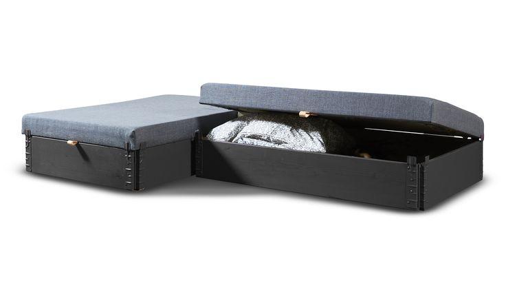 Flex-sofa af pallerammer. Se mere på www.mystack.dk