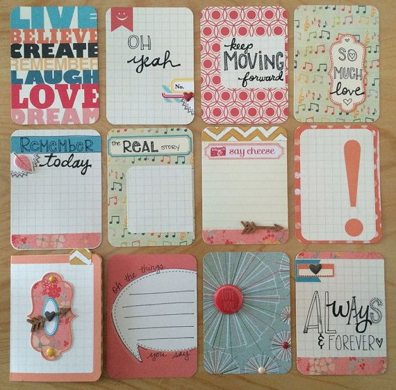 Altered and handmade project life cards jessica bree