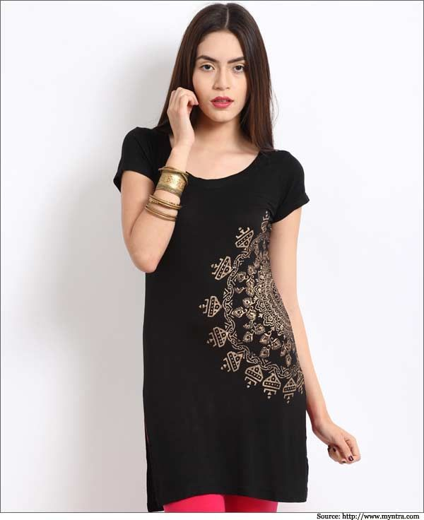 Women-Black-Cotton-Kurtis