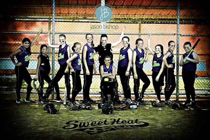 """Sweet Heat Softball Team Picture"" (Non-Traditional Pose)"