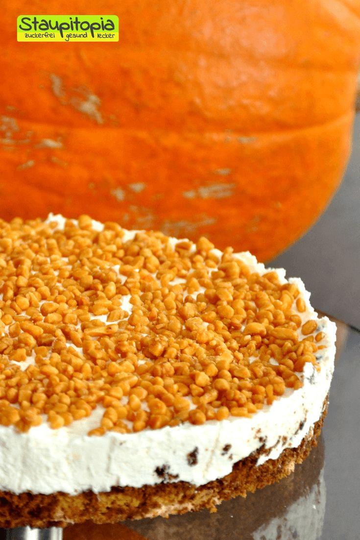 Low Carb Kürbiskuchen ohne Zucker und ohne Mehl! Das ist ein Kuchen ohne Kohlenhydrate mit Xucker Light bzw. Erythrit