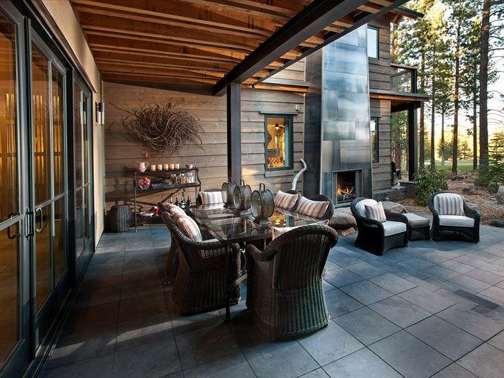 Впечатляющий интерьер дома в сосновом бору (Калифорния, США)