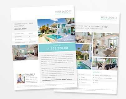 Best Real Estate Brochure Design Images On   Flyer