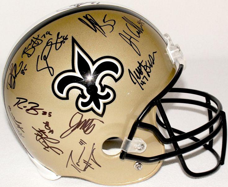 Team-Signed 2012 New Orleans Saints Full-Size Helmet with (21) Signatures Including Drew Brees, Joe Vitt, Darren Sproles, David Thomas, Roman Harper (JSA ALOA)