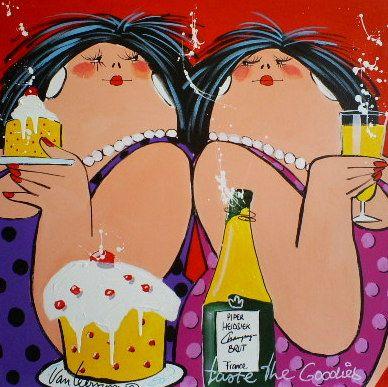 Art Exclusief  - De jochem de graaf galerie - El Van Leersum - Taste the goodies 60x60