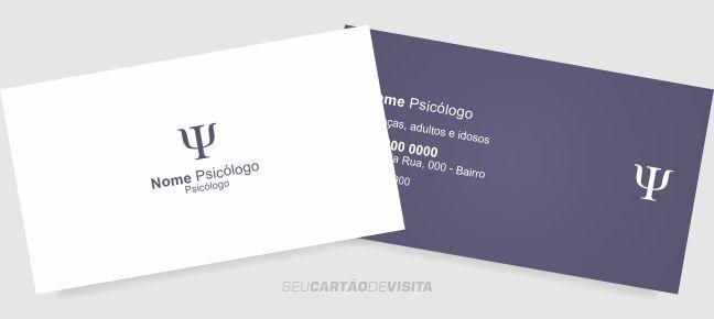 Cartão de visita psicologia grátis para download