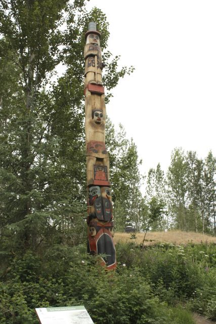 Tlingit Totem Pole at the Native Heritage Center in Anchorage Alaska