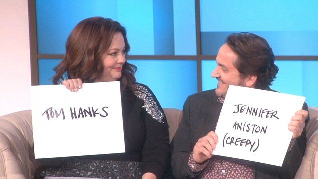 Melissa McCarthy and her husband Ben Falcone play the Not So Newlywed Game