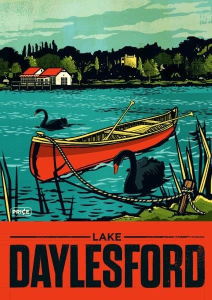 One of the gorgeous Travis Price designed posters available from stall 534 at our Daylesford venue.