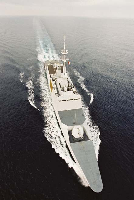 french marine nationale lead ship of its named class of 5 stealth frigates la