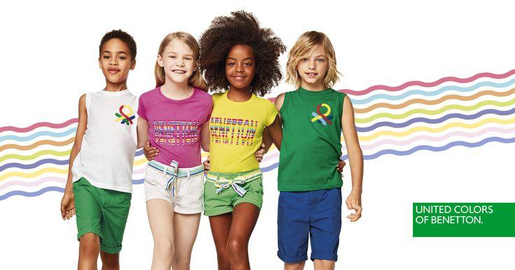 Estampados, logos y un arcoíris de colores. Descubre las camisetas, tops, bermudas y shorts de la Colección de Niños para el Verano de 2017.