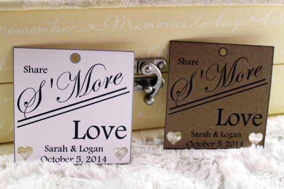 S'More Love Tags Perfect for Weddings Set by SillyLoveSongCustoms