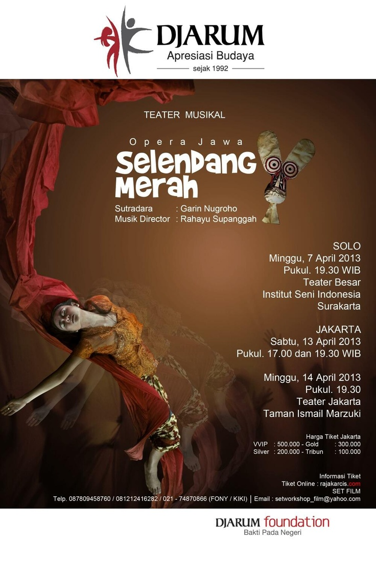 The latest from award-winning Indonesian film director Garin Nugroho - Selandang Merah performed by Opera Jawa. #Indonesia