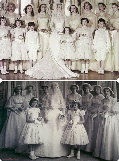 Grace Kelly's Wedding Dress & Bridal Party