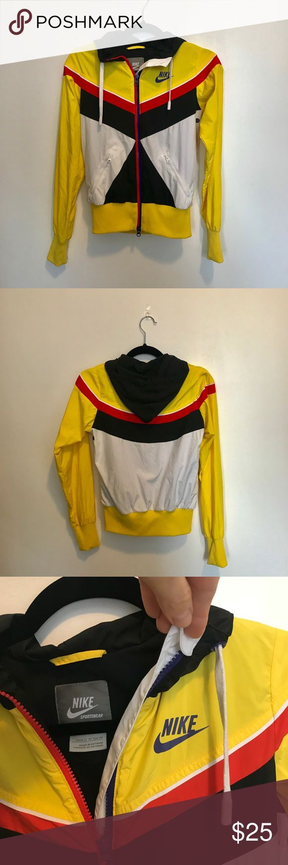 Women's Nike vintage track jacket, Size XS Colors: Yellow ...