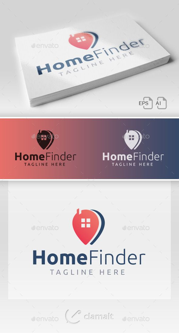 Home Finder Logo by clamalt  Home Finder / Logo This stylish logo design could be used for different purposes for a company, product, service or for all Your
