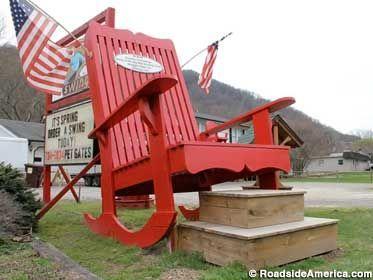 Big Red Rocker, Maggie Valley, North Carolina