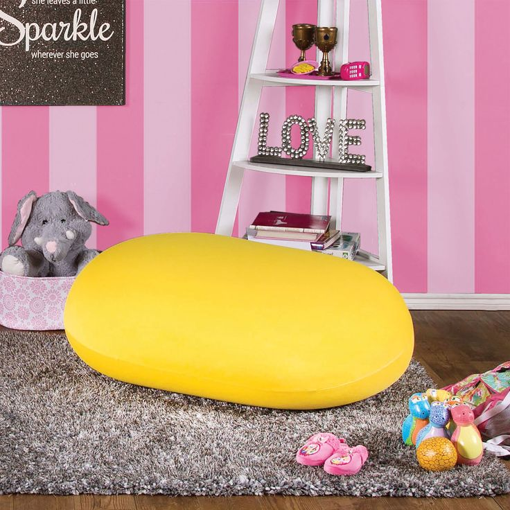 Marlet Contemporary Bean Bag Chair in Yellow