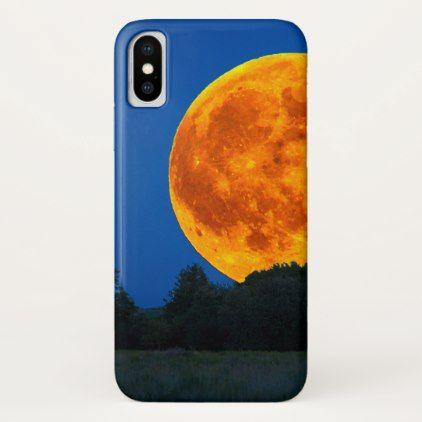 big orange moon cosmic iPhone case - trendy gifts cool gift ideas customize