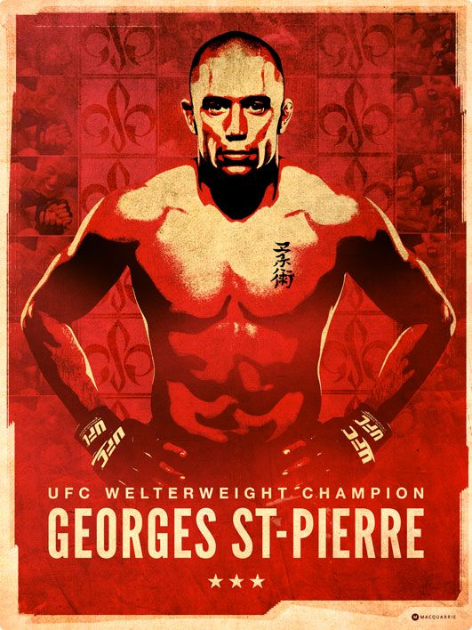 Georges St-Pierre Poster by Mat Macquarrie