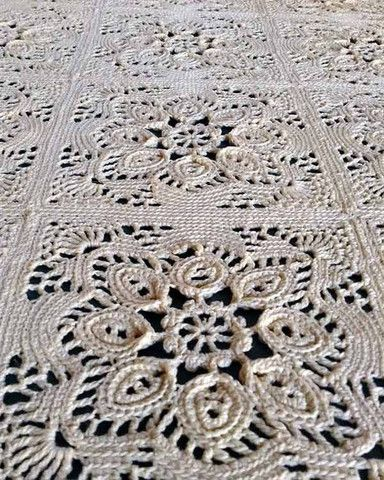 Picture of Provincial Crochet Bedspread Pattern....on my bucket list to make one of these someday :)
