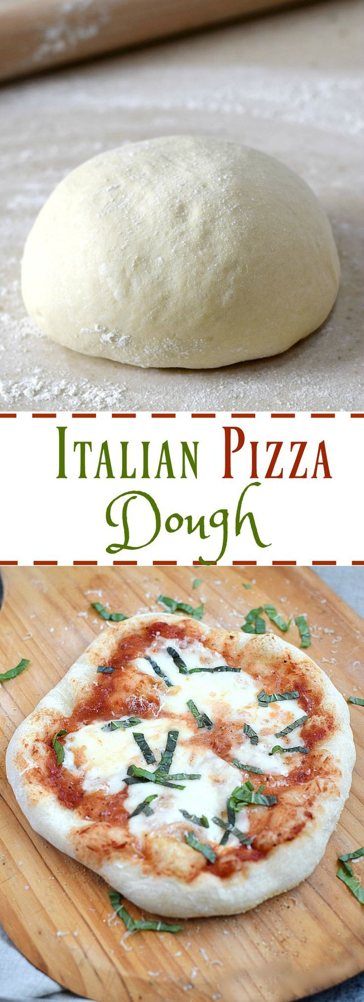 A traditional Italian Pizza Dough recipe using Tipo 00 Pizzeria Flour for a light and airy crust with a crispy exterior for the ultimate pizza experience | http://cookingwithcurls.com