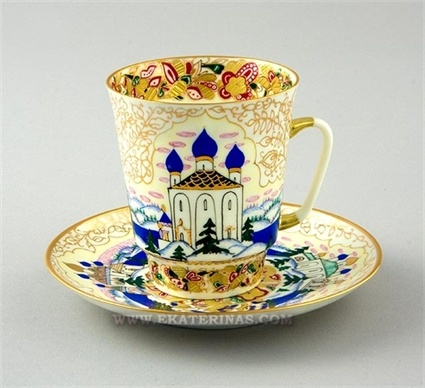 Russia Cup and Saucer