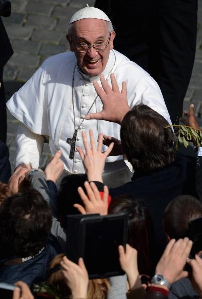 Pope Francis &  the crowd!