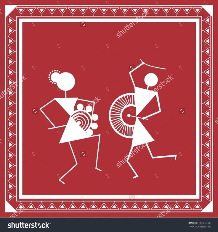 stock-vector-indian-tribal-painting-warli-painting-143534128.jpg (1500×1600)