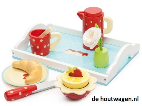 le toy van ontbijt set op dienblad 37,50