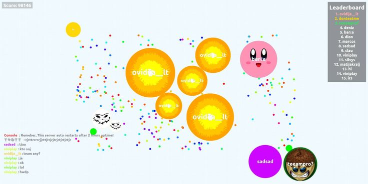 98146 agariohit.com best agar.io server game score ovidija__lt user - Player: ovidija__lt / Score: 98146
