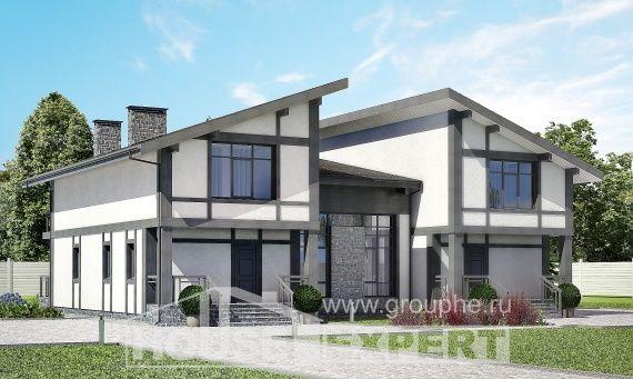 280-002-П Проект двухэтажного дома с мансардой, огромный домик из кирпича