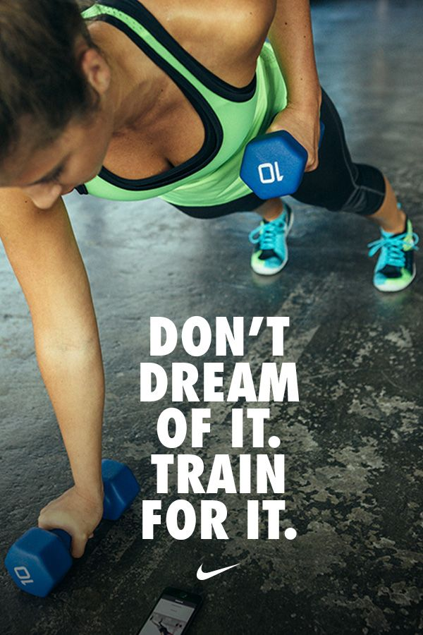 Dont dream of it. Train for it. Get fit with Nike Training Club workouts. Find more like this at gympins.com healthandfitnessnewswire.com