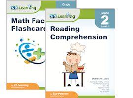 Reading and math workbooks