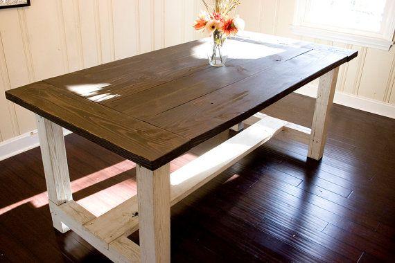 Custom Farmhouse Dining Table  Rustic Dining by WoodSmithDesignCo