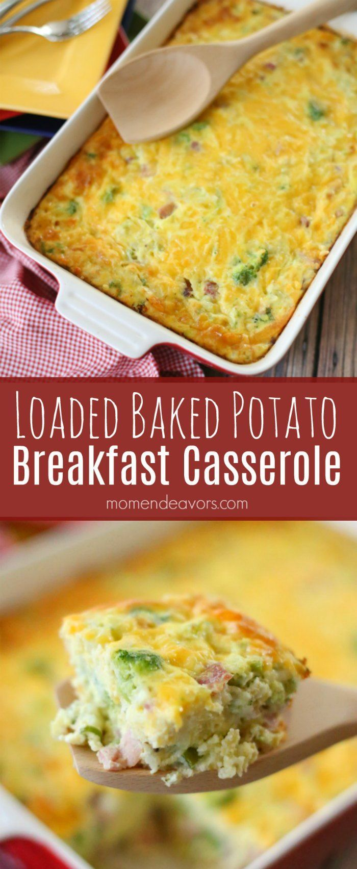 Loaded Baked Potato Breakfast Casserole - a tasty and hearty way to start the day. Perfect, easy make ahead meal! Sponsored by Shamrock Farms