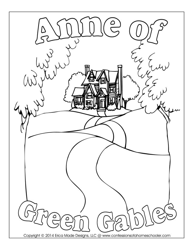 Anne Of Green Gables Printable Coloring Pages