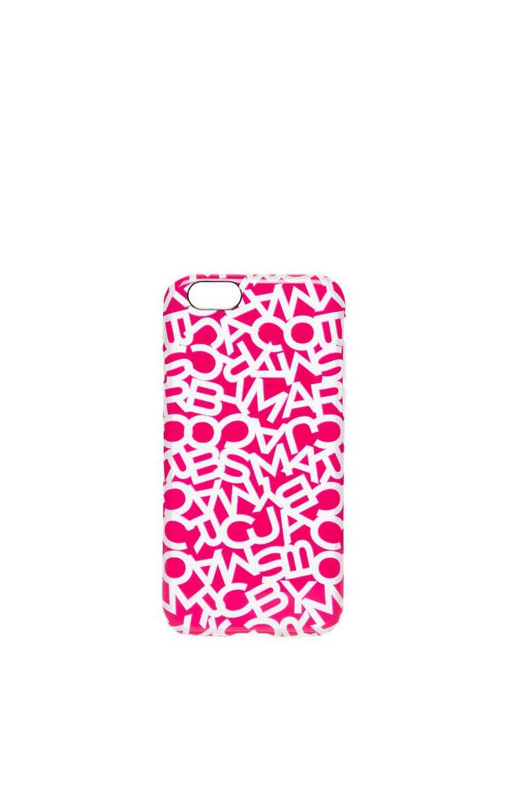 Phone Case - Scrambled Logo iPhone 6 BRIGHT ROSA - Marc by Marc Jacobs - Designers - Raglady
