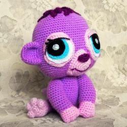 Вязаная обезьянка Purple Plum Monkey из Littlest Pet Shop