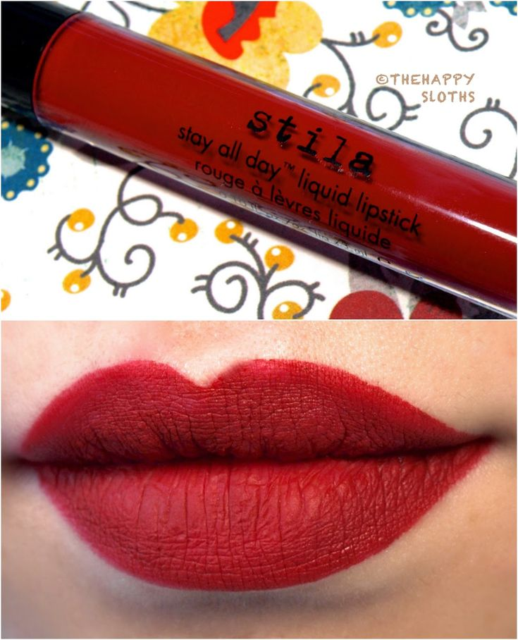 """Stila Stay All Day Liquid Lipstick in """"Fiery"""": Review and Swatches"""