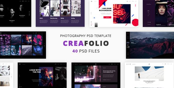 CreaFolio PSD Template - Photography Creative Download here : https://themeforest.net/item/creafolio-psd-template/20588113?s_rank=97&ref=Al-fatih