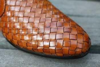 Vendita calda! Nuovo famosa alta- tessuti di qualità pelle moda uomo di lusso scarpe da uomo piatto degli uomini sneaker scarpe casual scarpe di cuoio b-Il nero/marrone-migliori scarpe