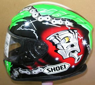 Shoei Custom Painted Helmet #175 ~ Hand Painted Helmets - Design your helmet today..!!