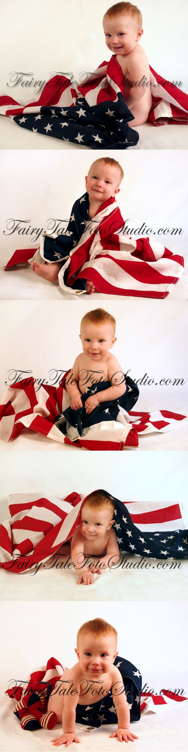 Baby Wrapped in American Flag 4th of July 8 Months Old Independence Day Americana USA American Flag Portrait Poses | Photo Idea | Photography | Cute Kid Pic | Baby Pics | Posing Ideas | Kids | Children | Child | ~Bountiful Utah Photographer close to Salt Lake City | Ogden | Provo UT~
