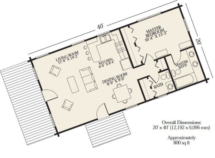 Cabin plans 1 2 bath could be a laundry pantry area for Diy floor plan online