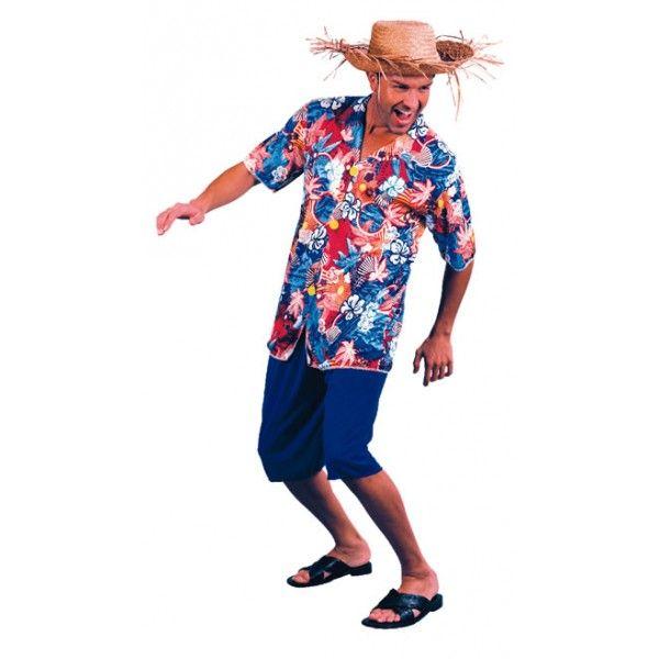 Disfraz de Hawaiano. Refrescante disfraz para el verano, para las fiestas de la piscina, de la urbanización, de la playa, la discoteca, etc....