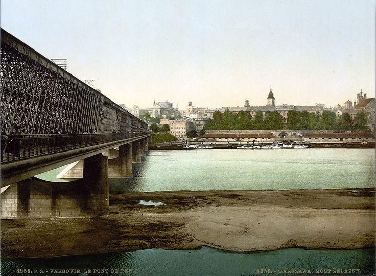 Warszawa przedwojenna - most Kierbedzia i Stare Miasto