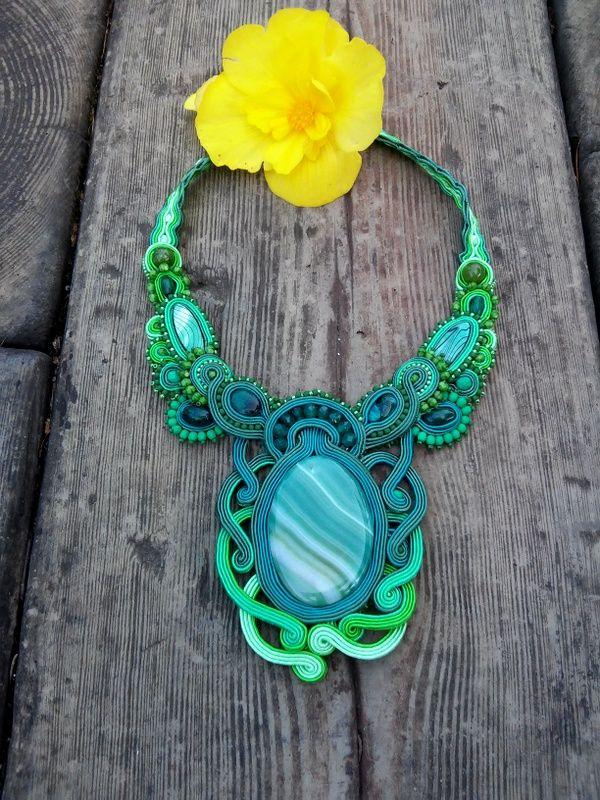 Soutache necklace by MaNiko
