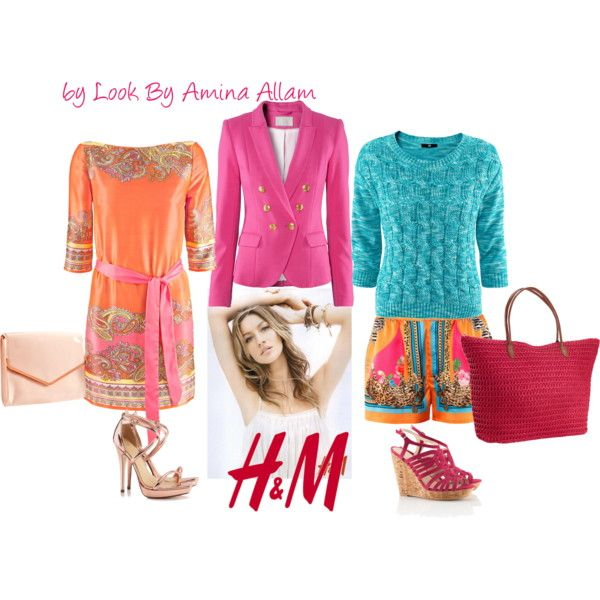 Two ways to wear the H blazer, by Look By Amina Allam, created by Look By Amina Allam